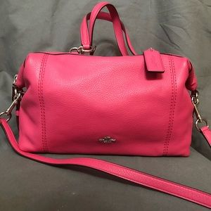 BNWOT Coach Satchel in Pink Leather